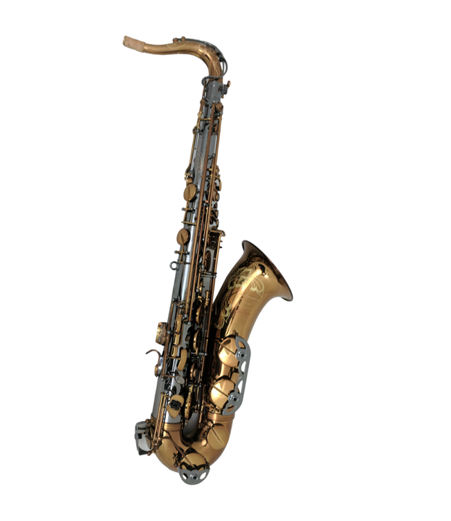 The Growling Sax The Growling Sax Origin Series Professional Tenor Saxophone, Black Nickel and brown gold lacquer