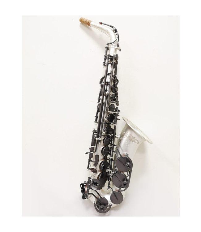 The Growling Sax The Growling Sax Uprise Series Professional Alto Saxophone, Satin Silver/ Satin Black Keys