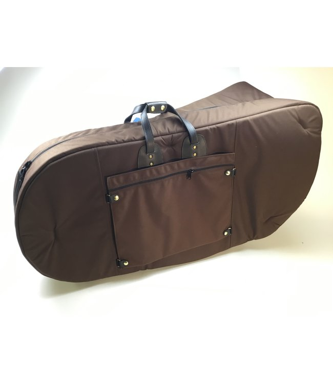 Torpedo Bags Used Cronkhite Large Tuba Bag, Brown Fabric