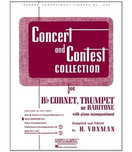 Hal Leonard Concert and Contest Collection for Bb Cornet/Trumpet/Baritone T.C. Solo Part Rubank Solo Collection