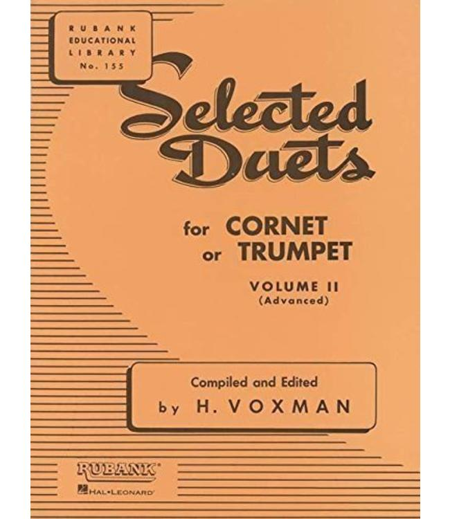 Hal Leonard Selected Duets for Cornet or Trumpet Volume 2 - Advanced edited H. Voxman Ensemble Collection