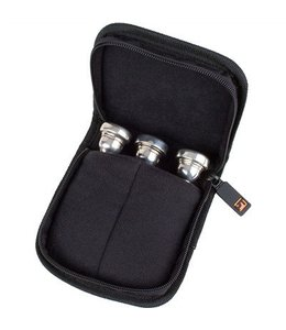 Protec SMALL BRASS 3 PIECE POUCH W/ ZIPPER CLOSURE BLACK