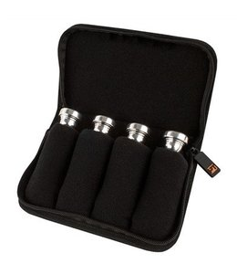 Protec SMALL BRASS 4 PIECE POUCH W/ ZIPPER CLOSURE BLACK