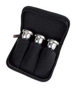 Protec Protec Tuba Mouthpiece Pouch – 3 Piece (Nylon) with Zipper Closure