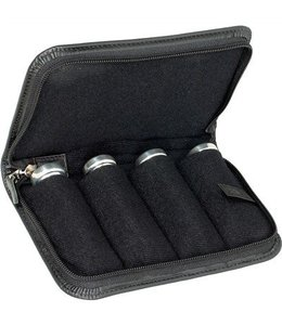 Protec SMALL BRASS 4 PIECE LEATHER MOUTHPIECE POUCH BLACK