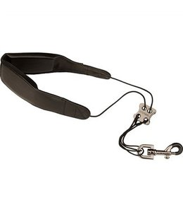 "Protec SAX LEATHER NECK STRAP-24"" TALL W/ METAL SNAP BLACK"