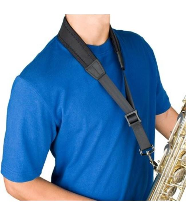 "Protec Protec Saxophone Less Stress Neck Strap 22"" Regular with Metal Snap"