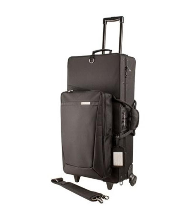 Protec Protec Alto and Straight Soprano Sax Pro Pac Case with Wheels Black