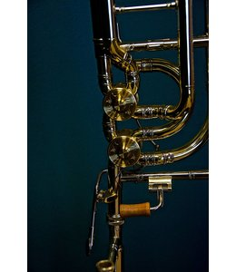 M&W Trombones M&W 929 Large Bore Double Valve Bass Trombone Bb/F/Gb with Tuning in Slide