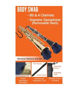 Protec Protec Body Swab: Clarinets (Bb, A), Soprano Saxophone with Removable Neck