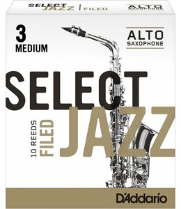 D'Addario D'Addario Select Jazz Filed Alto Sax Reeds, Box of 10
