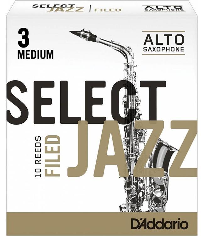 D'Addario D'Addario Select Jazz Filed Alto Sax Reeds, Box of 10