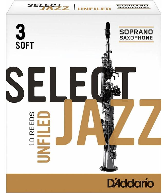 D'Addario D'Addario Select Jazz Unfiled Soprano Sax Reeds, Box of 10