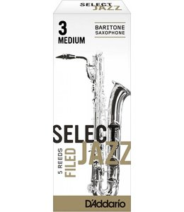 D'Addario D'Addario Select Jazz Filed Baritone Sax Reeds, Box of 5
