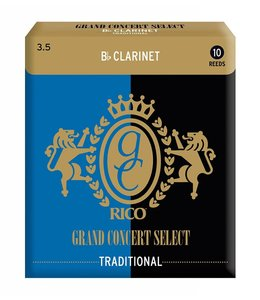 Rico Rico Grand Concert Select Traditional for Bb Clarinet, Box of 10