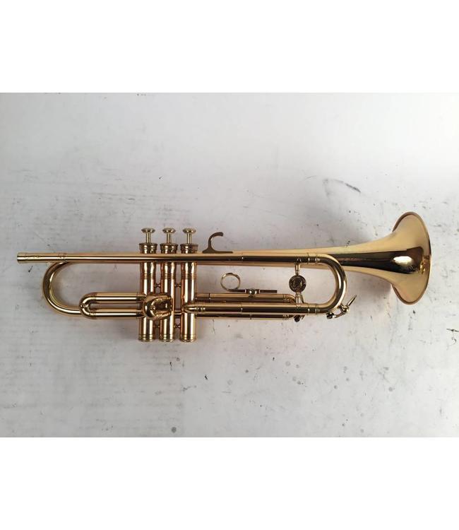 Leblanc Used LeBlanc (Paris) Al Hirt model large bore Bb trumpet in gold lacquer.