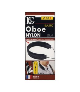 BG Oboe Nylon Strap, Elastic, 2 LP Connect