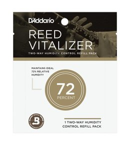 DAddario Woodwinds Rico Reed Vitalizer Humidity Control - Single Refill Pack, 73% Humidity