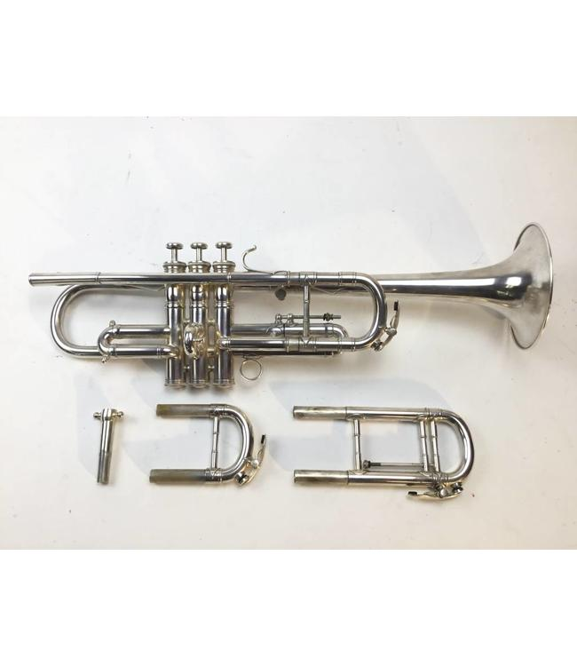 Used French Besson Brevete C/Bb Trumpet