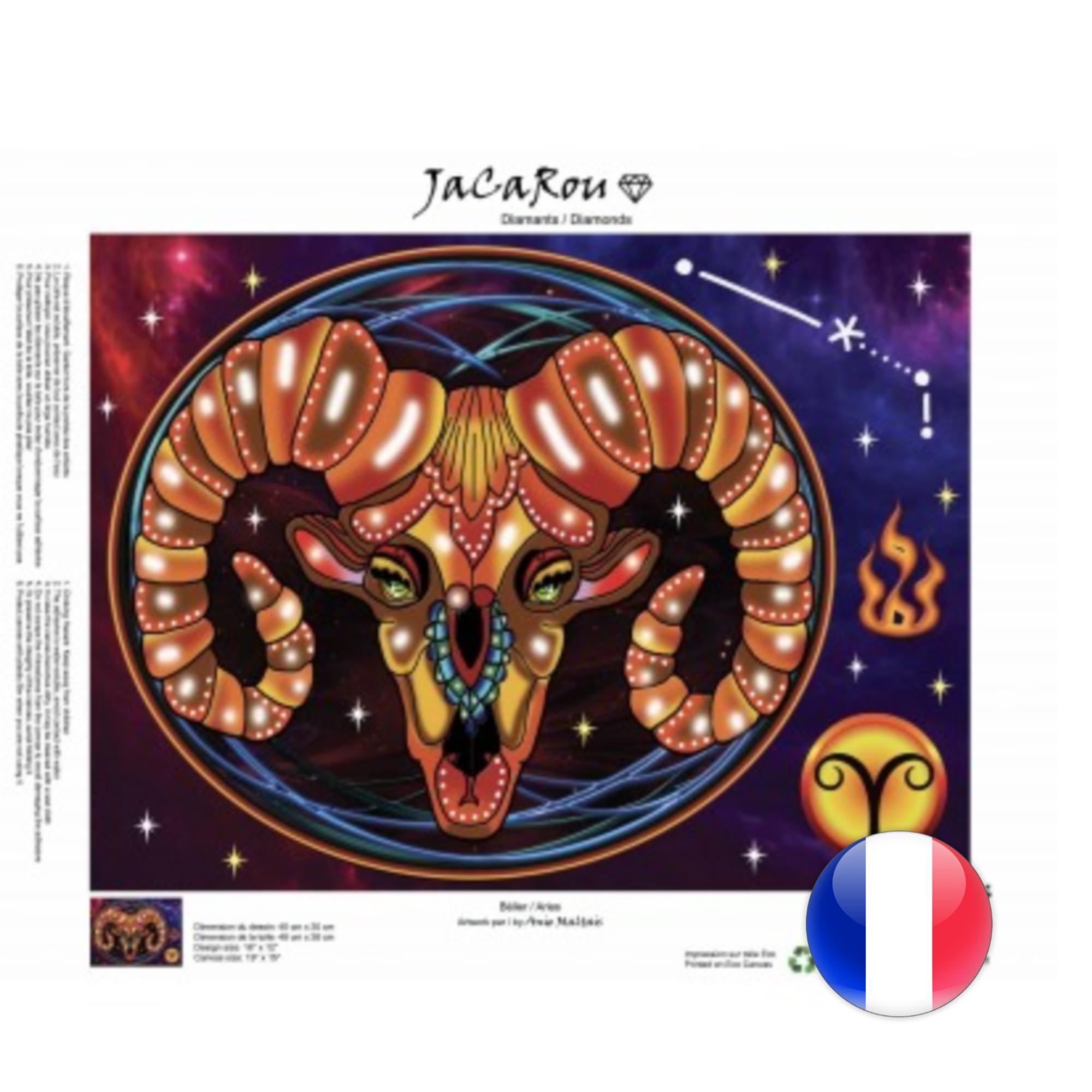 JaCaRou Bélier 40 x 30 Diamond Painting
