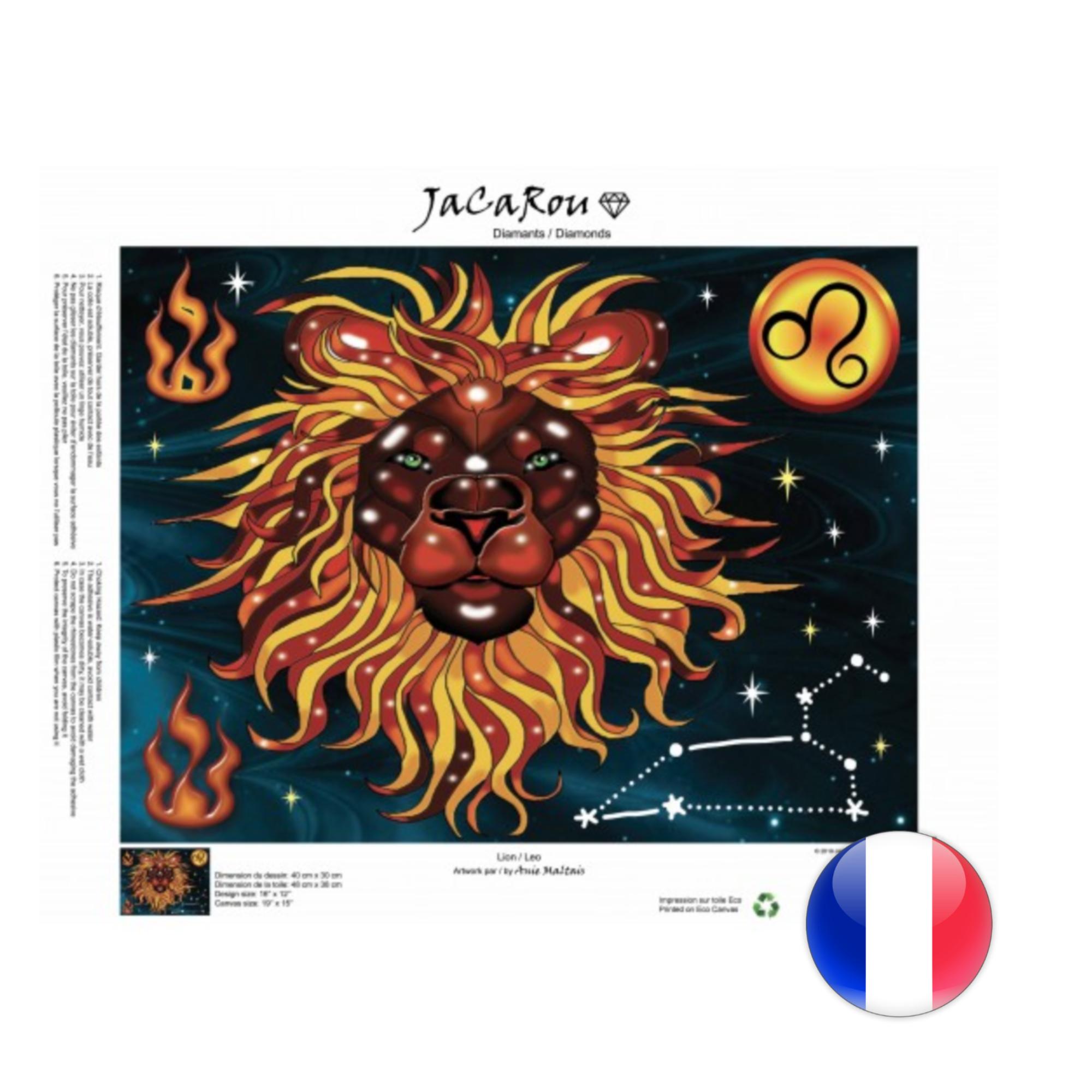 JaCaRou Lion 40 x 30 Diamond Painting