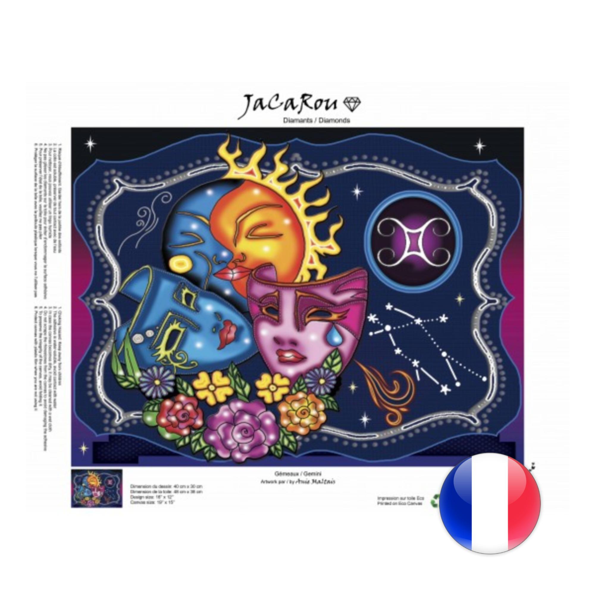 JaCaRou Gemeaux 40 x 30 Diamond Painting