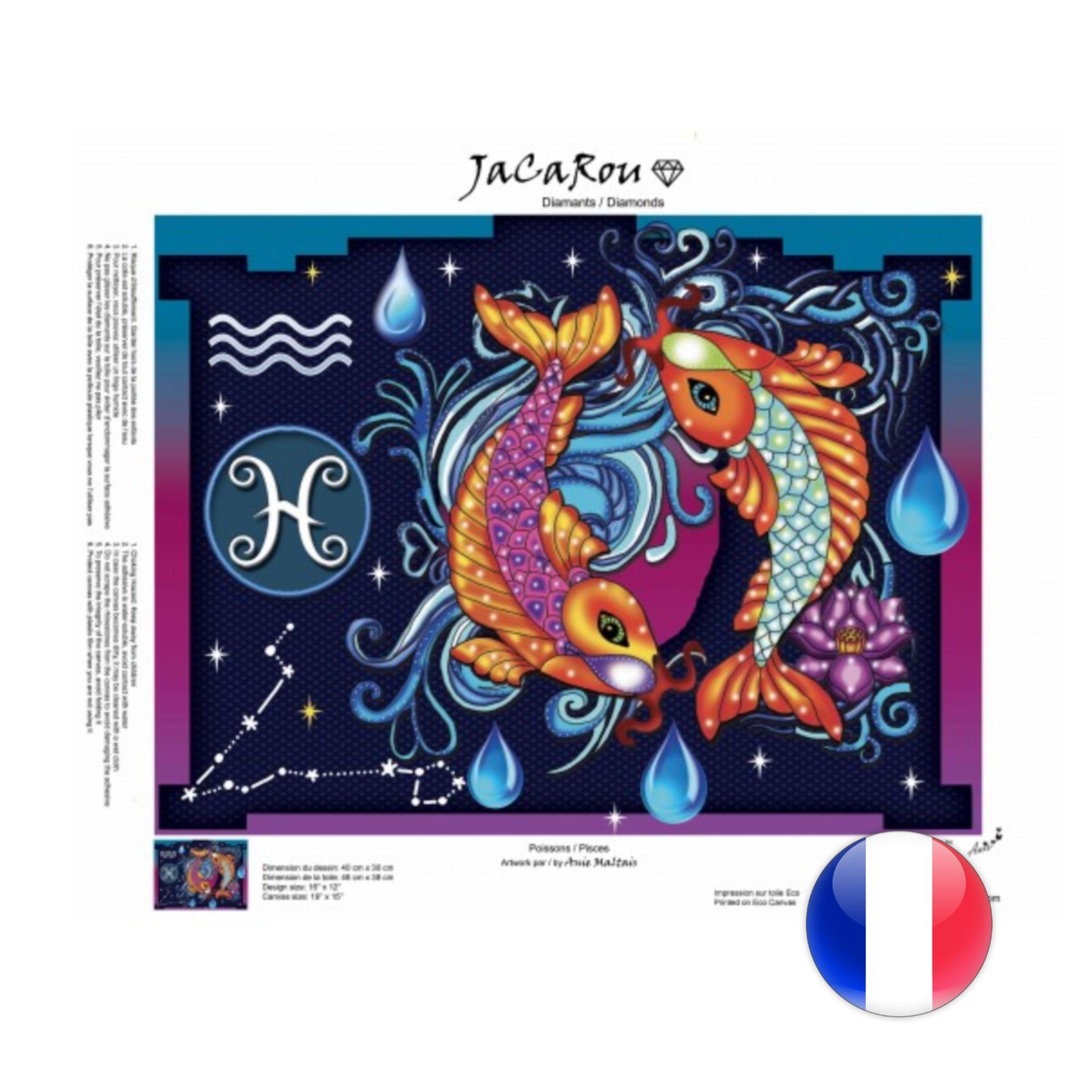 JaCaRou Poissons - Diamond Painting 30 X 40