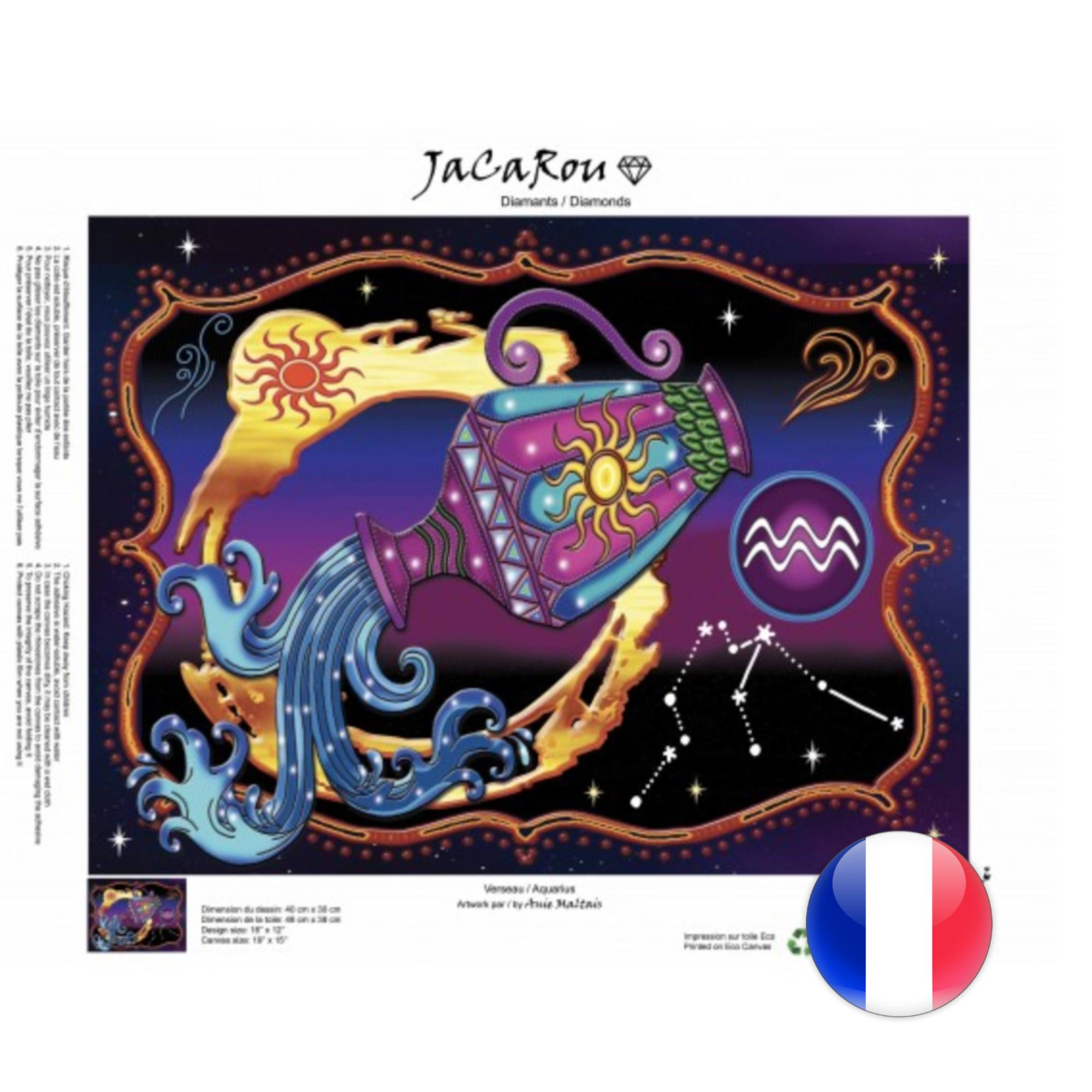 JaCaRou Verseau 40 x 30 Diamond Painting