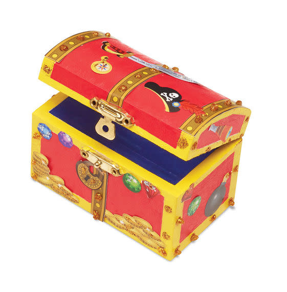 Melissa & Doug Created by Me! Pirate Chest Wooden Craft Kit