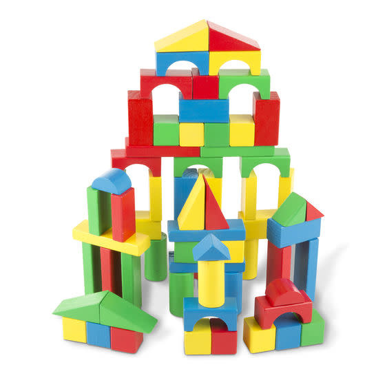 Melissa & Doug 100 Piece Wood Blocks Set
