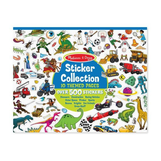 Melissa & Doug Sticker Collection Book: 500+ Stickers - Dinosaurs, Vehicles, Space...