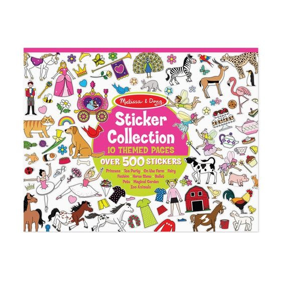 Melissa & Doug Sticker Collection Book: 500+ Stickers - Princesses, Tea Party, Animals...