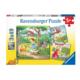 Ravensburger Puzzle 3 x 49: Raiponce, Le petit chaperon rouge et La princesse et la grenouille