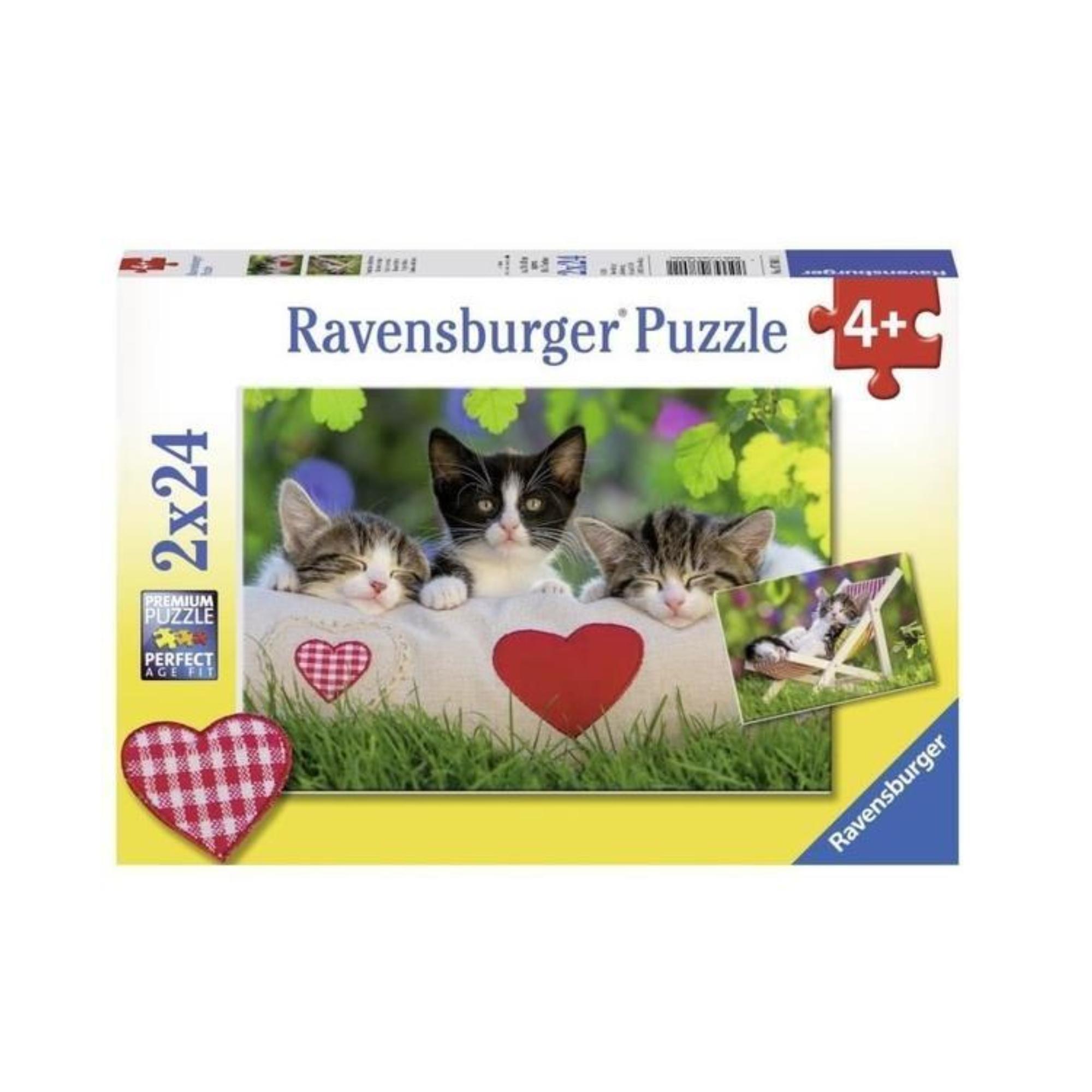 Ravensburger Puzzle 2 x 24: Chatons au repos