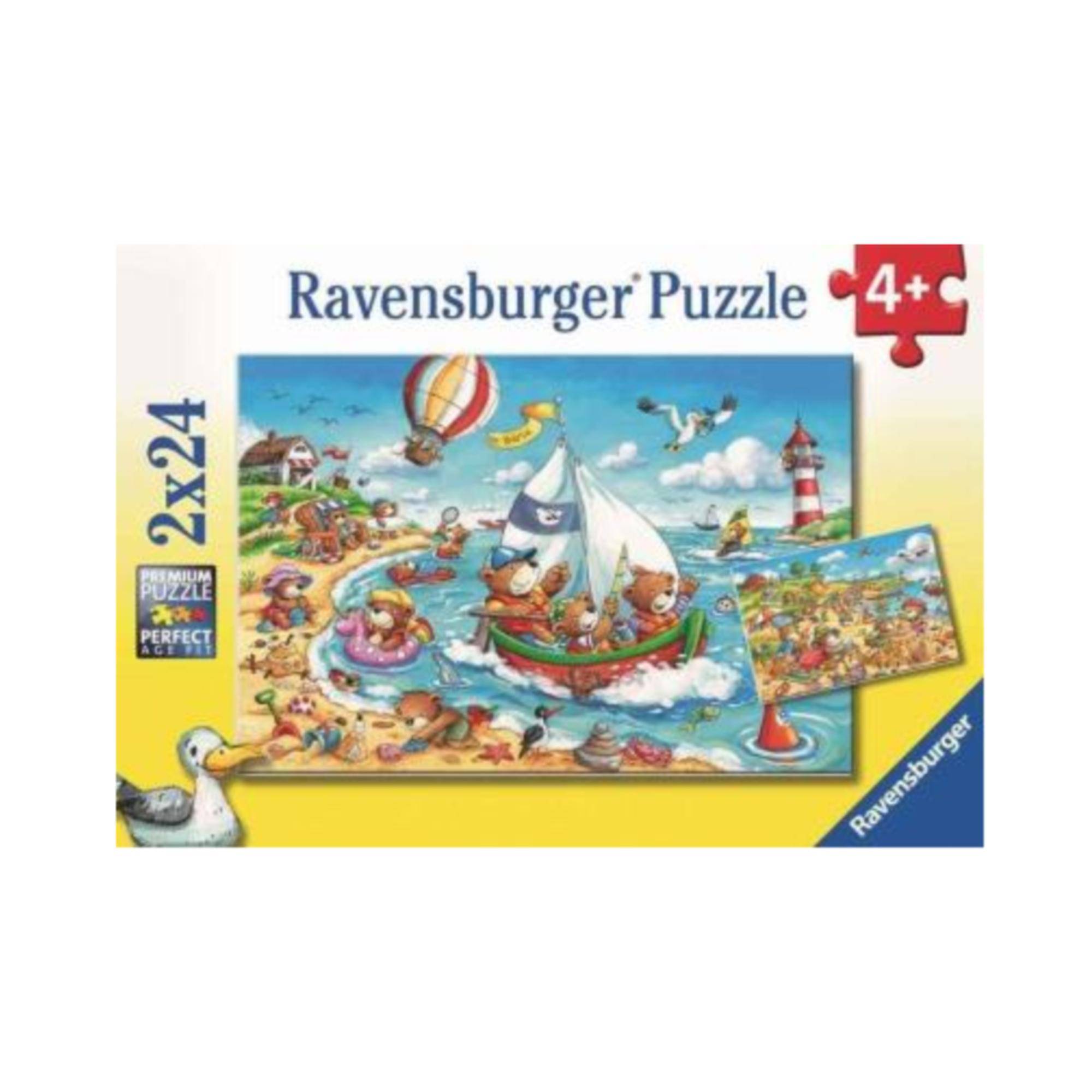 Ravensburger Puzzle 2 x 24: Vacanes à la mer