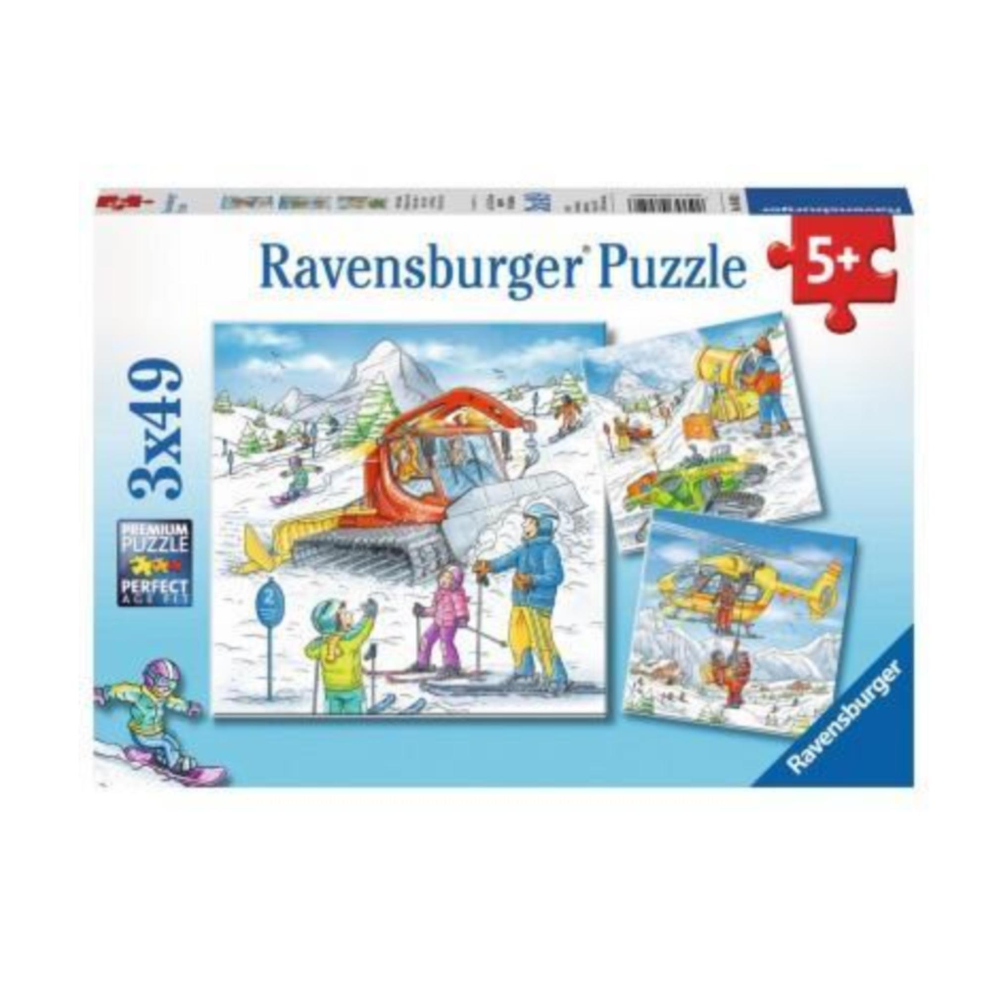 Ravensburger Puzzle 3 x 49: Sur les pistes de ski