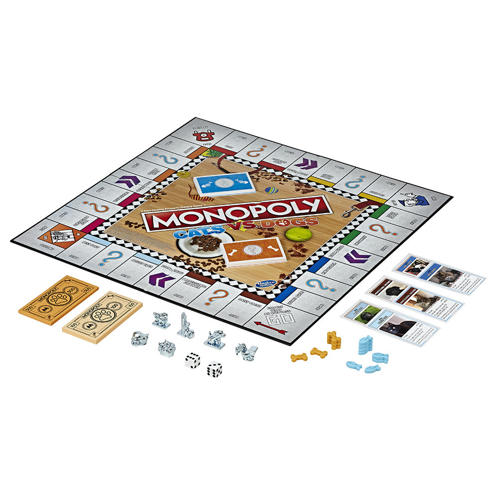 Hasbro Games Monopoly Cats vs Dogs