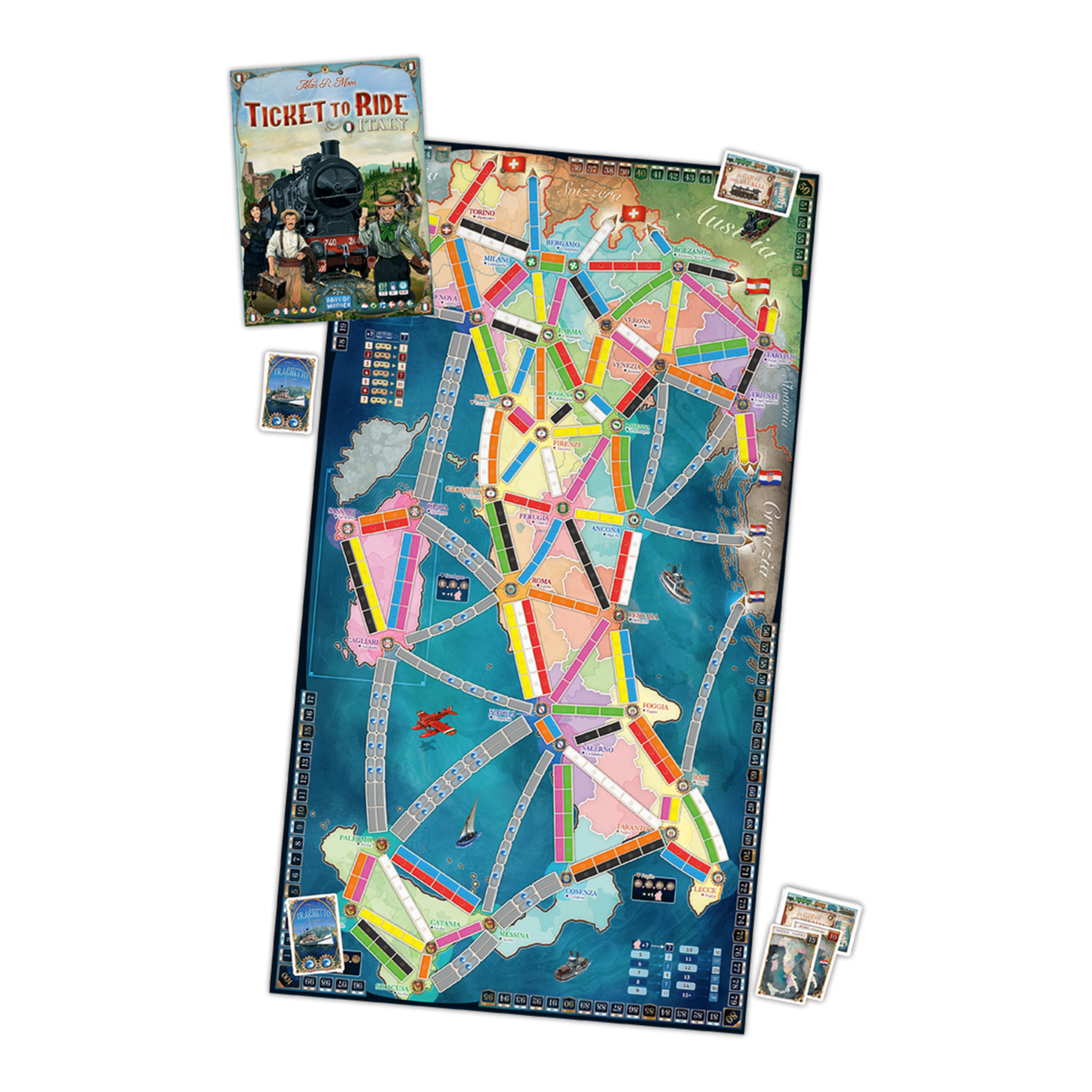 Days of Wonder Ticket to Ride : Japan / Italy Map #7 (multi)