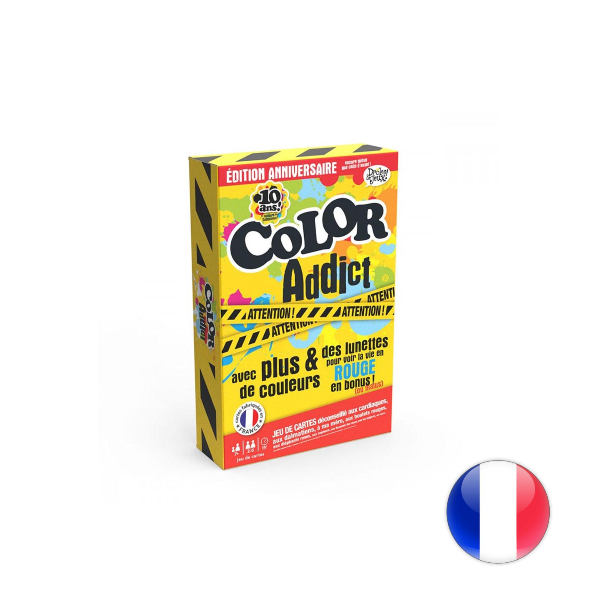 France Cartes Color Addict - Édition Limitée 10 ans