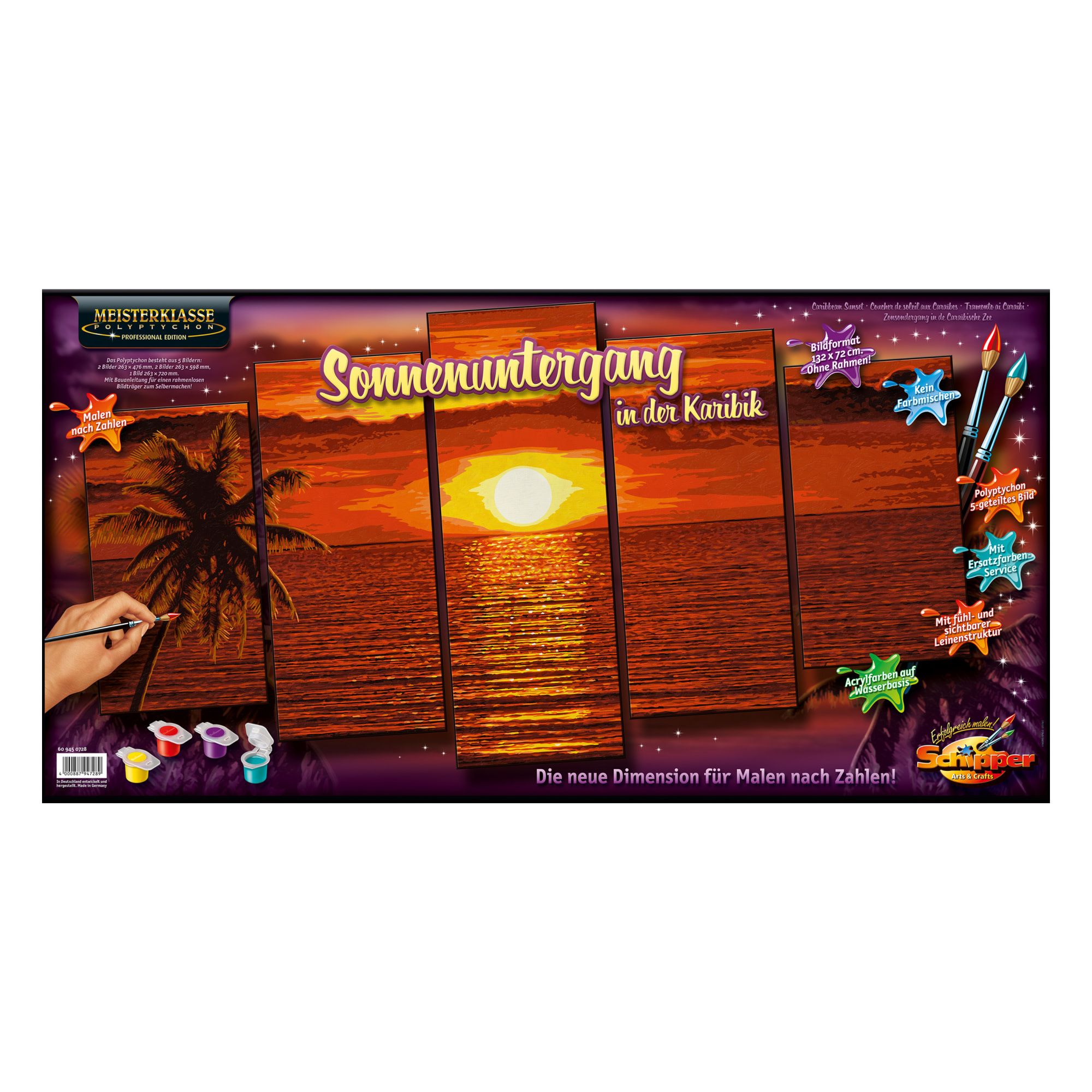 Schipper Premium Peinture à numéros: Caribbean Sunset