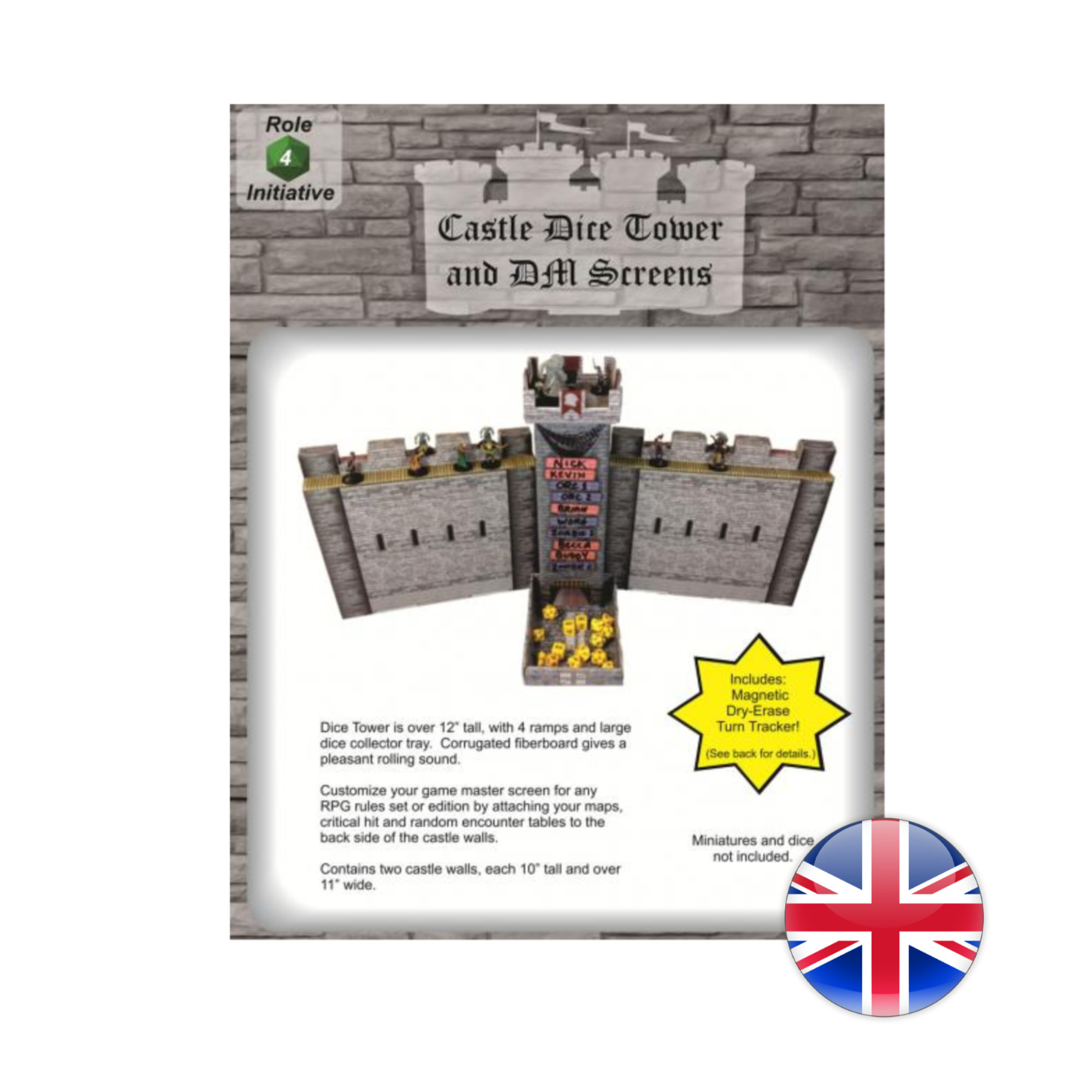 Role 4 Initiative Castle Keep Dice Tower and DM Screen Combo