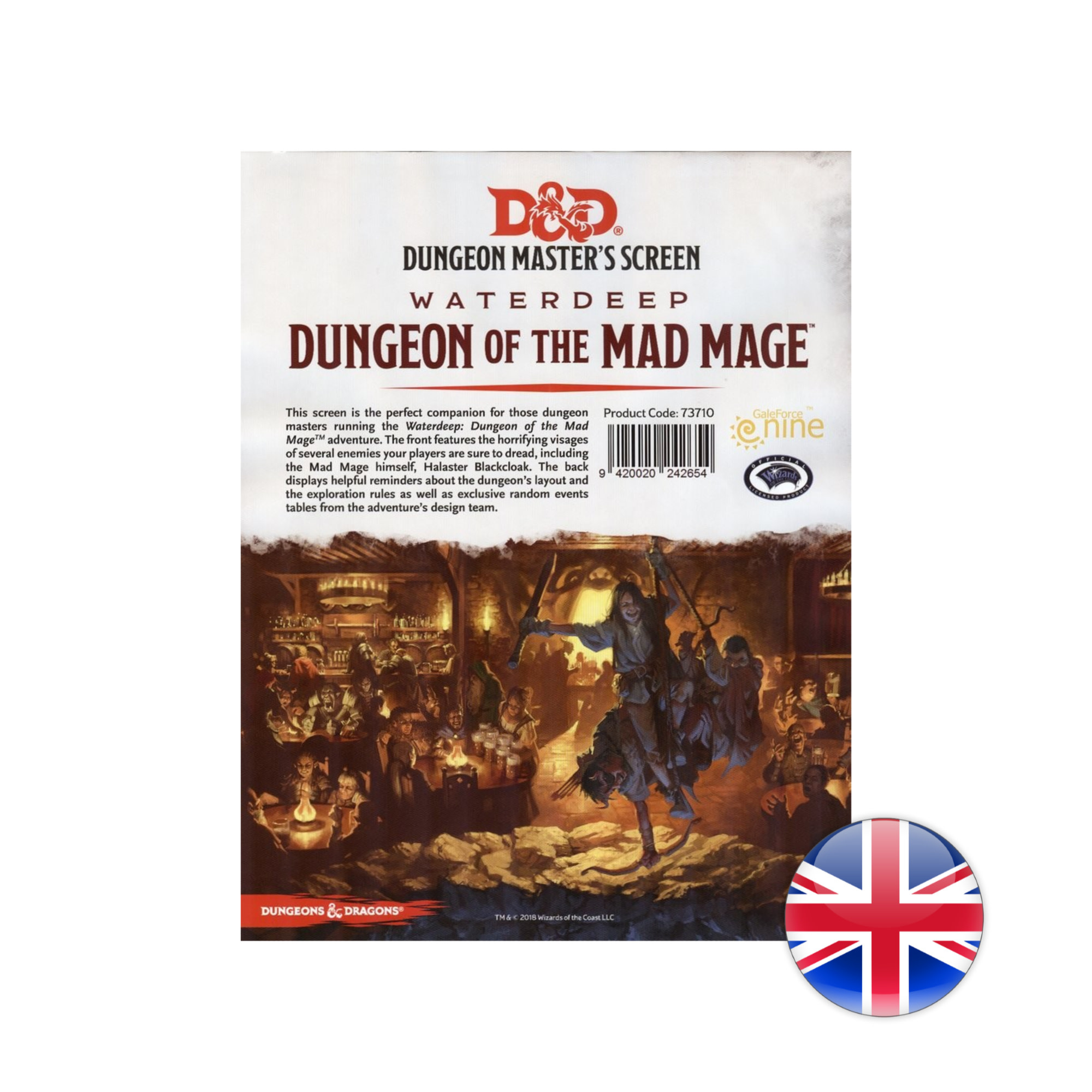 Gale Force Nine D&D Dungeons & Dragons: Dungeon of the  Mad Mage DM Screen