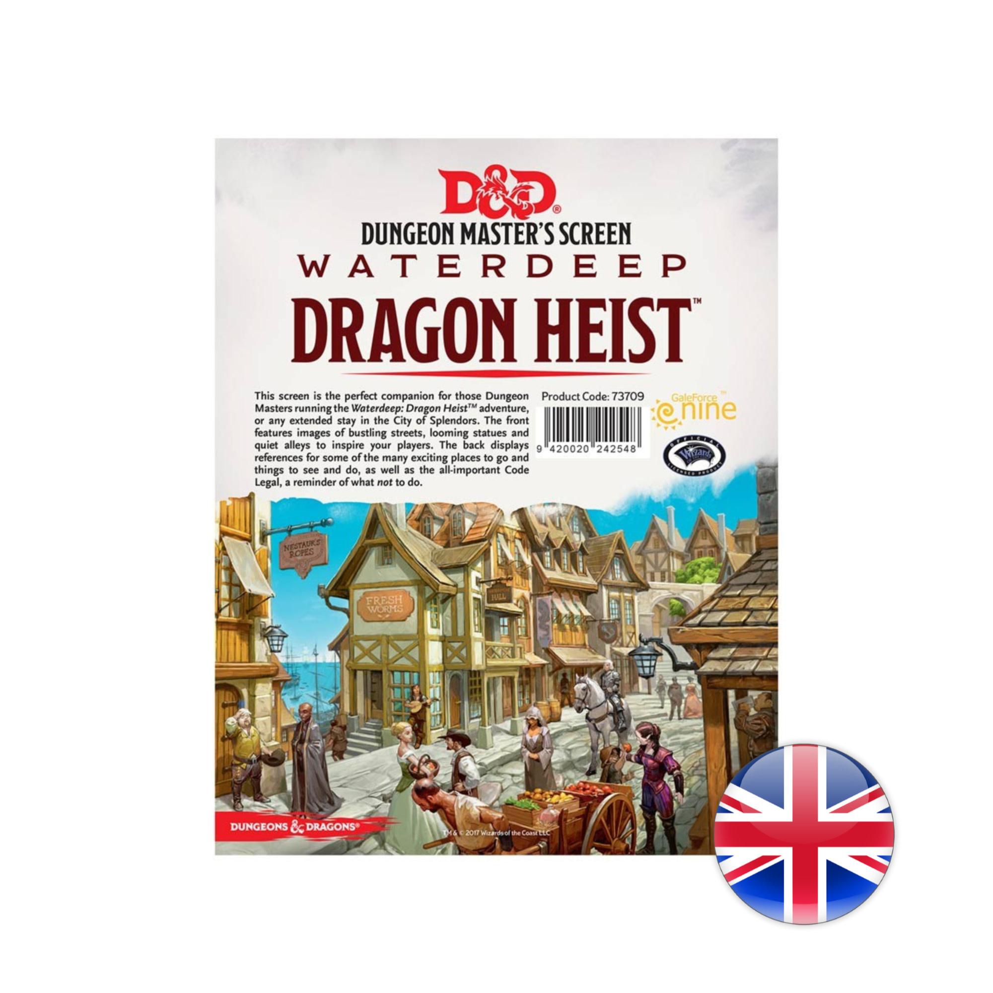 Gale Force Nine D&D Dungeons & Dragons: Waterdeep Dragon  Heist DMs Screen