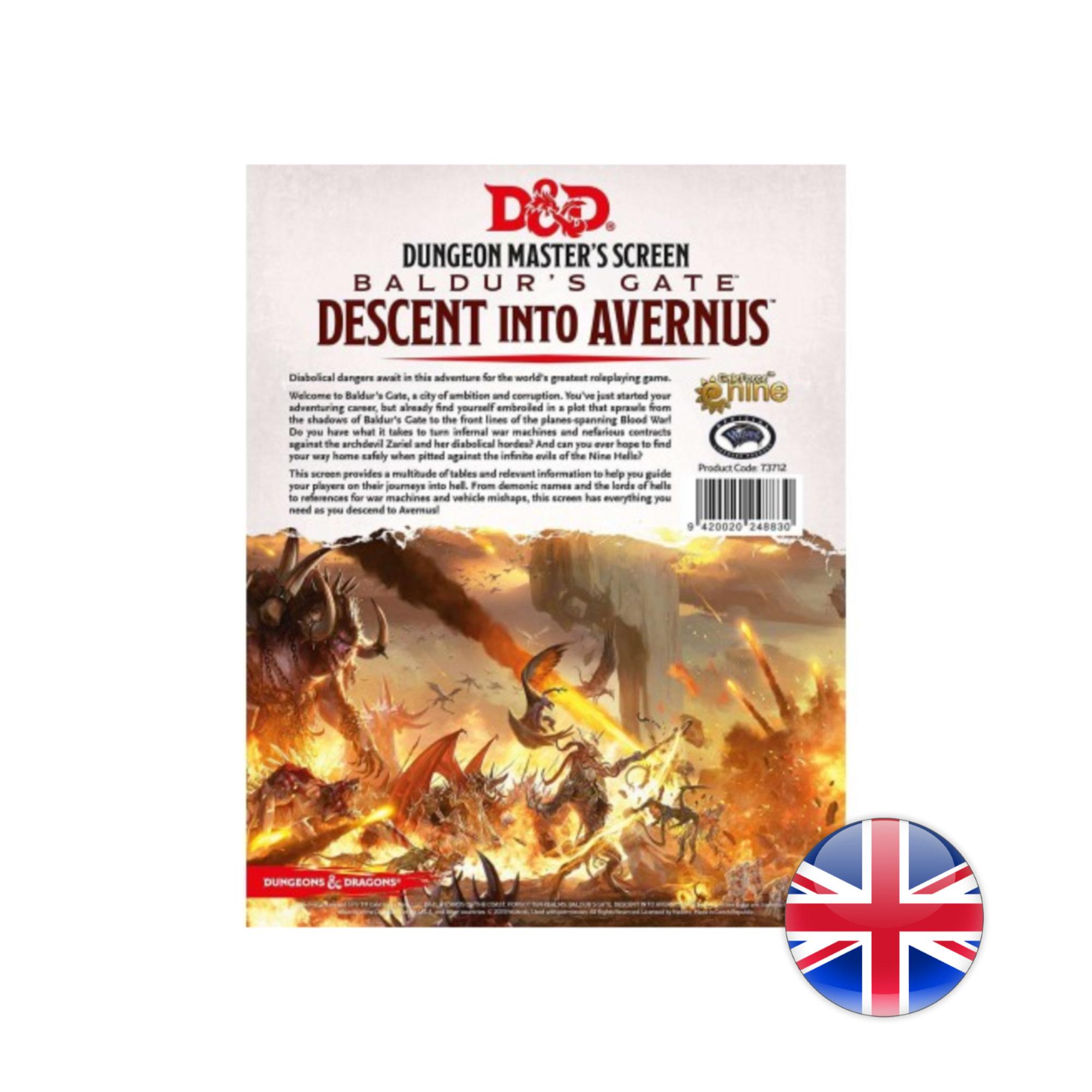 D&D: Baldurs Gate: Descent Into Avernus DM Screen