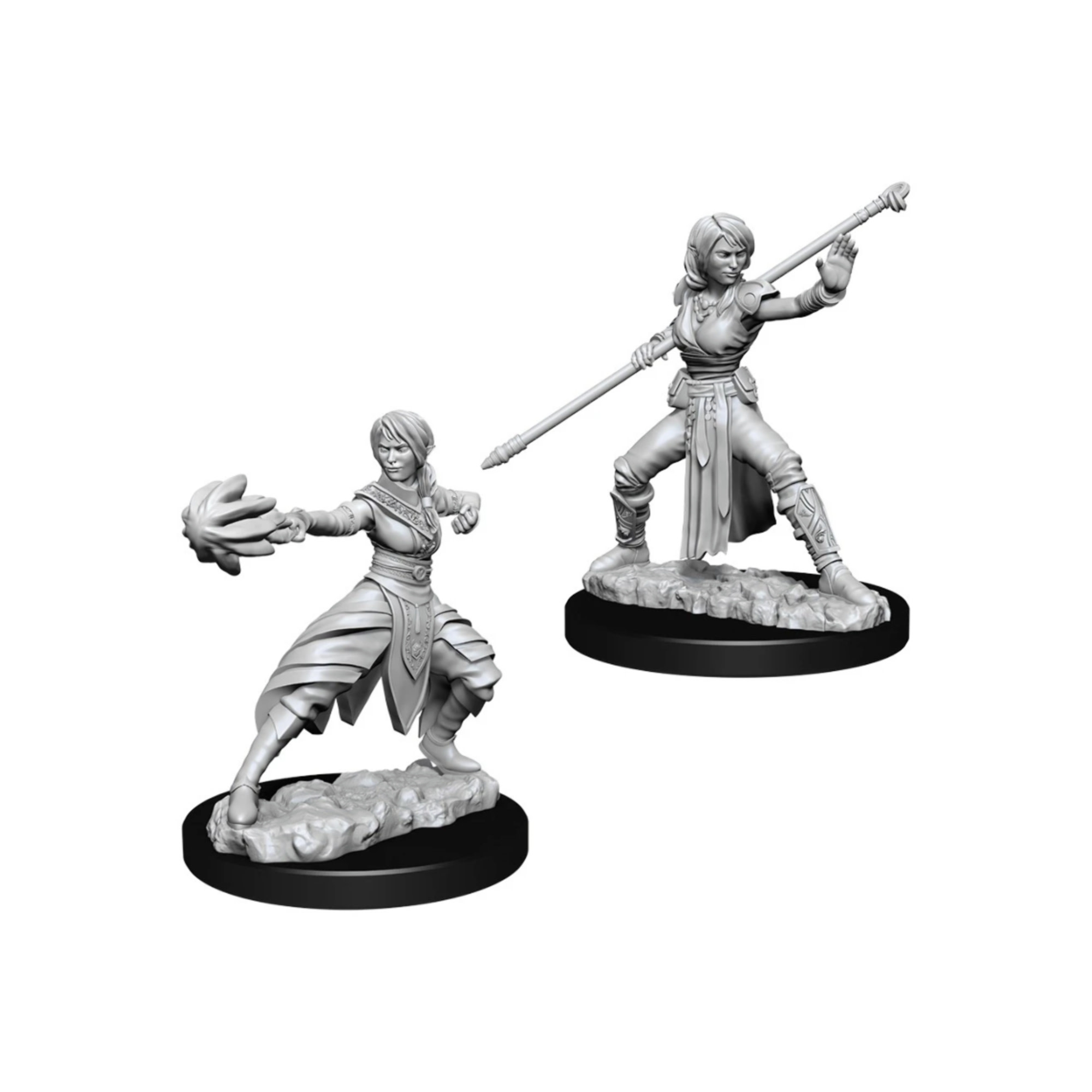 Wizkids Games Unpainted Minis WV10 Female Half-Elf Monk