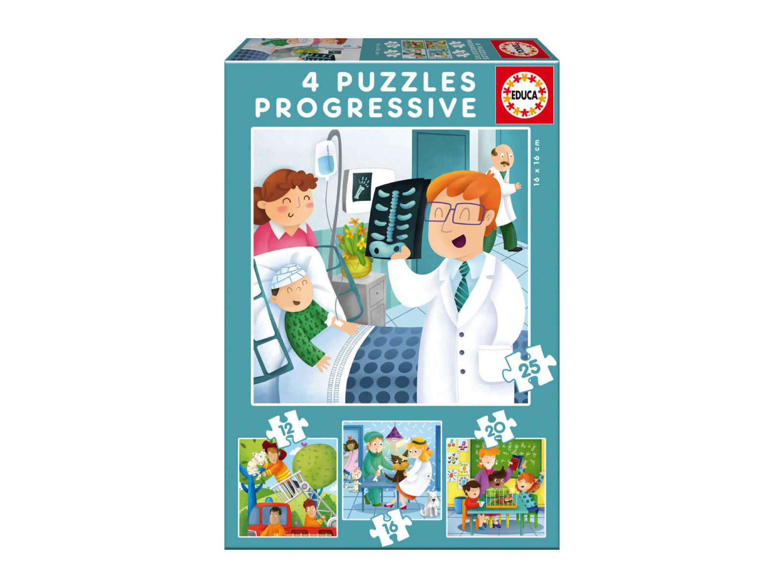 Educa Puzzle progressifs 4: Professions