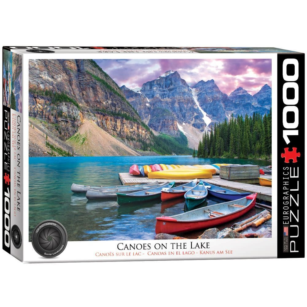 Eurographics Puzzle 1000: Canoes on the Lake
