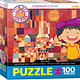 Eurographics Puzzle 100: Castle and Sun by Paul Klee