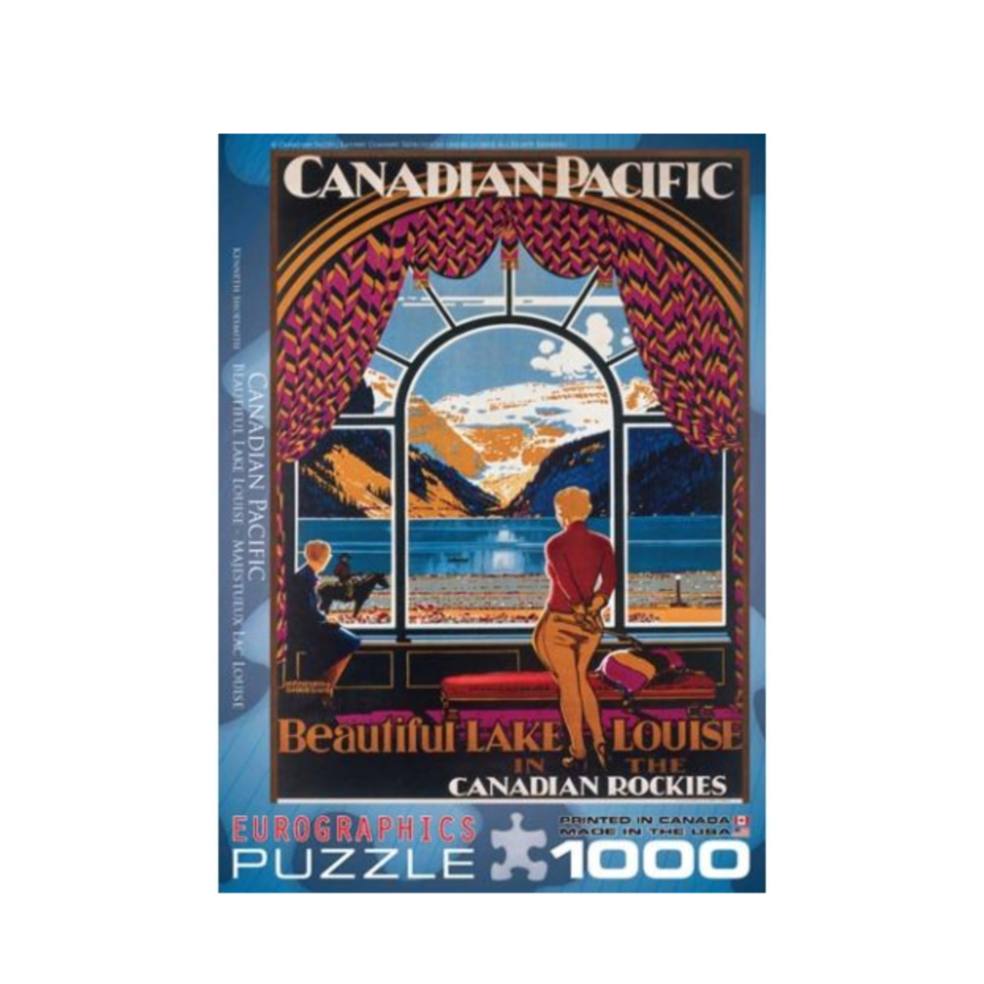 Eurographics Puzzle 1000: Beautiful Lake Louise by Kenneth Shoesmith