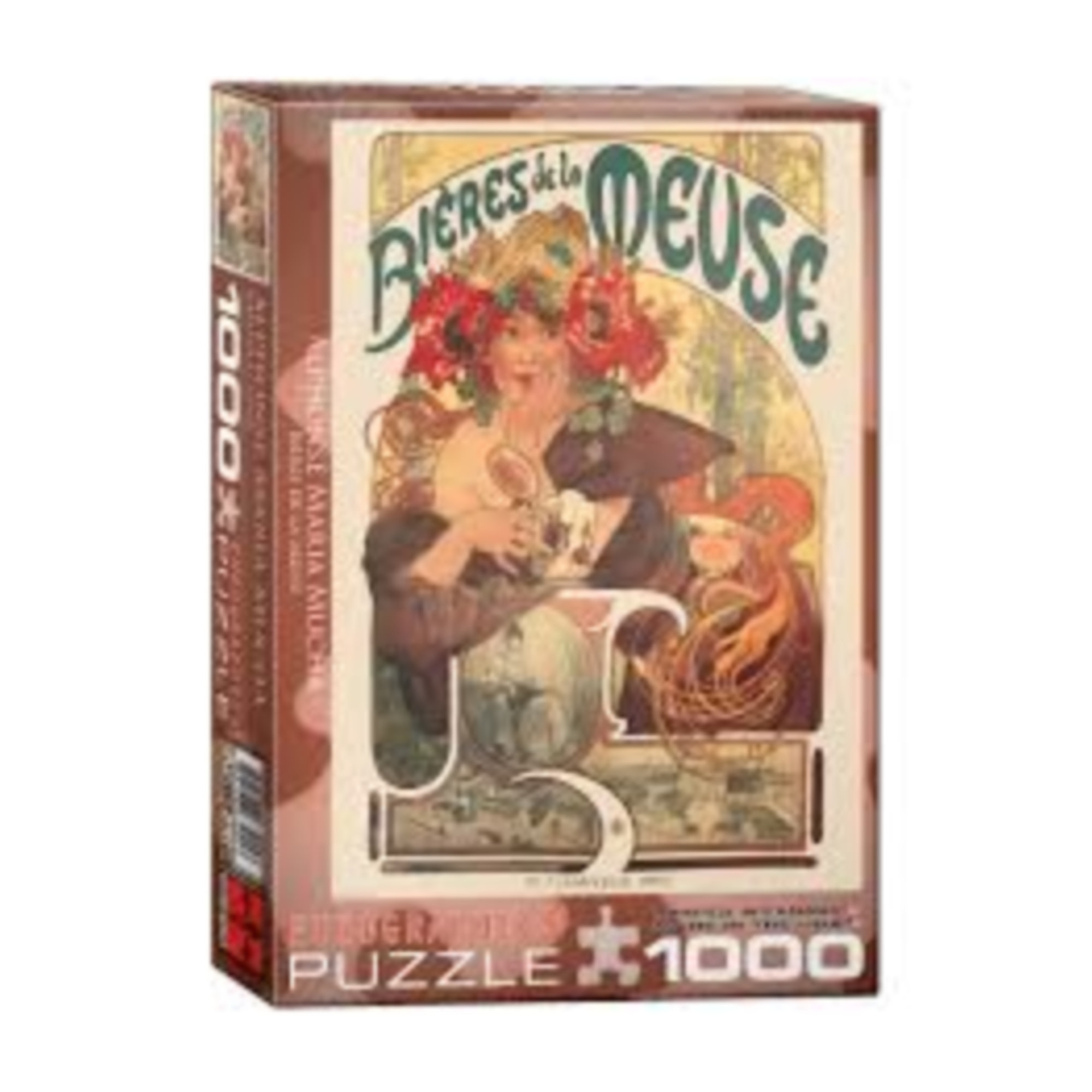 Eurographics Puzzle 1000: Bieres de la Meuse / Alphonse Maria Mucha